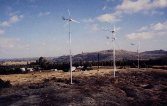 Wind turbines in operation at Temaruru