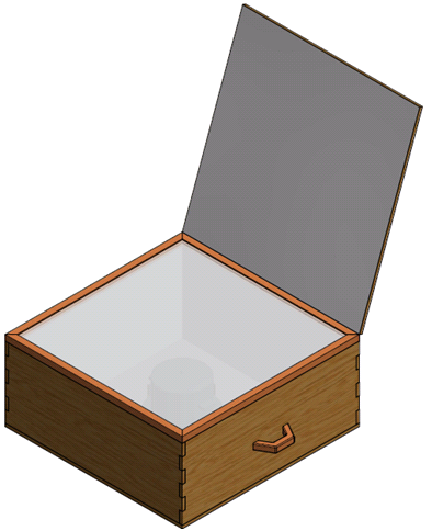 A 3D model was created to estimate physical parameters of the solar cooker