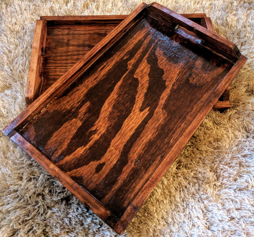 First 2 wooden tray prototypes