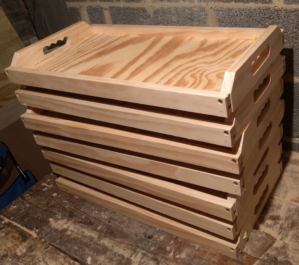 Here is the second batch of 7 trays I built after refining the design and workflow.